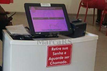 tablet emissor ae senhas com impressora